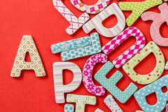 Colorful Letters with Patterns Royalty Free Stock Photo