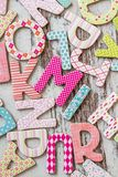 Colorful Letters with Patterns Royalty Free Stock Image