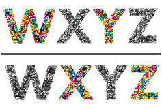 Colorful letters set for design Royalty Free Stock Photos
