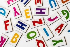Colorful letters. On white background Stock Photography