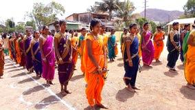 Colorful Lezim Dance Troupe Royalty Free Stock Image