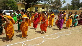Colorful Lezim Dance Troupe Royalty Free Stock Photography