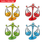 Colorful Libra Zodiac Star Signs Sketch Royalty Free Stock Photos