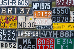 Colorful License Plates Royalty Free Stock Photography