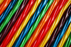 Colorful licorice candy Stock Images