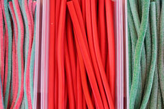 Colorful licorice candy background Stock Images