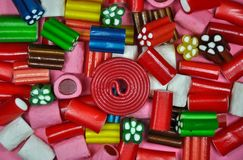 Colorful licorice candy pieces stock photo