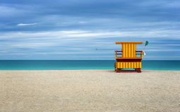 Colorful Life Guard house on the beach. Stock Photography