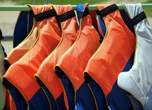 Colorful Life Vests Royalty Free Stock Photo