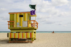 Colorful Lifegaurd Tower Royalty Free Stock Photography