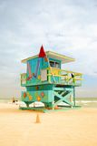 Colorful lifeguard cabin Royalty Free Stock Photo