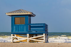 Colorful lifeguard house on beautiful Venice Beach, Florida-2-Edit Royalty Free Stock Image