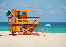 Colorful lifeguard stand Royalty Free Stock Images
