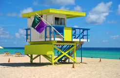 Colorful lifeguard stand Royalty Free Stock Image