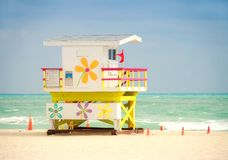 Colorful lifeguard station Royalty Free Stock Image