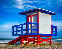 Free Colorful Lifeguard Tower Royalty Free Stock Photography - 31178877
