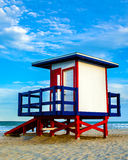 Colorful lifeguard tower Royalty Free Stock Photography