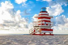 Colorful Lifeguard Tower in South Beach, Miami Beach. Florida Royalty Free Stock Photo