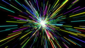 Colorful Light Beam Loop stock footage