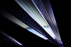 Colorful light beam from a video projection Stock Photography