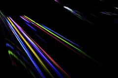Colorful light beam from a video projection Stock Image