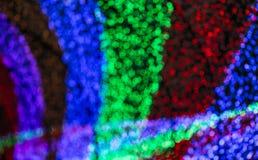 Colorful light blurred bokeh Stock Photo