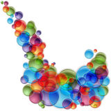 Colorful Light Bubble Spray Royalty Free Stock Photo