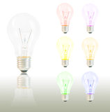 Colorful light bulb. On white background Royalty Free Stock Photo