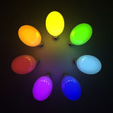 Colorful light bulbs Royalty Free Stock Photography