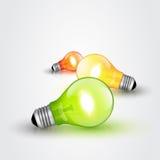 Colorful light bulbs Stock Image