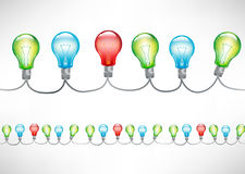 Colorful light bulbs Royalty Free Stock Photo