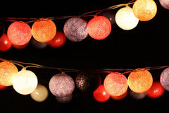 Colorful light bulbs Stock Photos