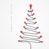 Colorful light bulbs and Christmas tree symbol .Merry christmas Stock Photos