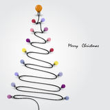Colorful light bulbs and Christmas tree symbol .Merry christmas. Abstract background.Vector illustration Stock Photography