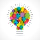Colorful light bulbs form a bulb. Stock vector Stock Photography