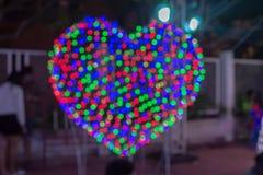 Colorful light bulbs. Colorful of light bulbs at night Stock Photos