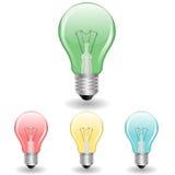 Colorful Light Bulbs set Royalty Free Stock Photo