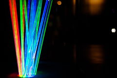 Colorful light in darkness Royalty Free Stock Photo