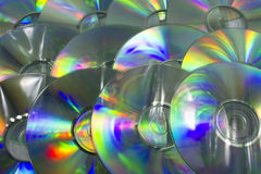 Colorful light Dvd surface Royalty Free Stock Photography