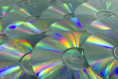 Colorful light Dvd surface Stock Photography