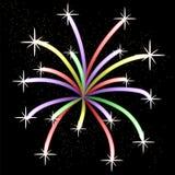Colorful Light Firework. On Dark Sky Stock Photos