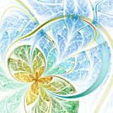 Colorful light fractal flower or butterfly Royalty Free Stock Images