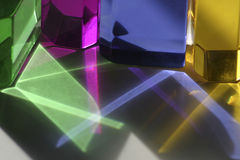 Colorful Light Patterns. Colored light patterns from back lit acrylic blocks Royalty Free Stock Photo