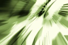 Colorful light rays and geometrical forms, green abstract background royalty free stock photos