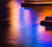 Colorful light reflection on the water Royalty Free Stock Image