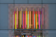 Colorful light rods royalty free stock images
