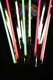 Colorful light sabers Royalty Free Stock Photography