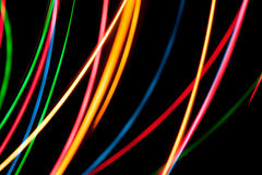 Colorful light streaks Stock Image