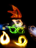 Colorful Light Trails Abstract Royalty Free Stock Photo