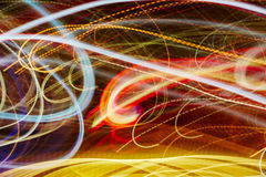 Colorful light trails background Royalty Free Stock Images